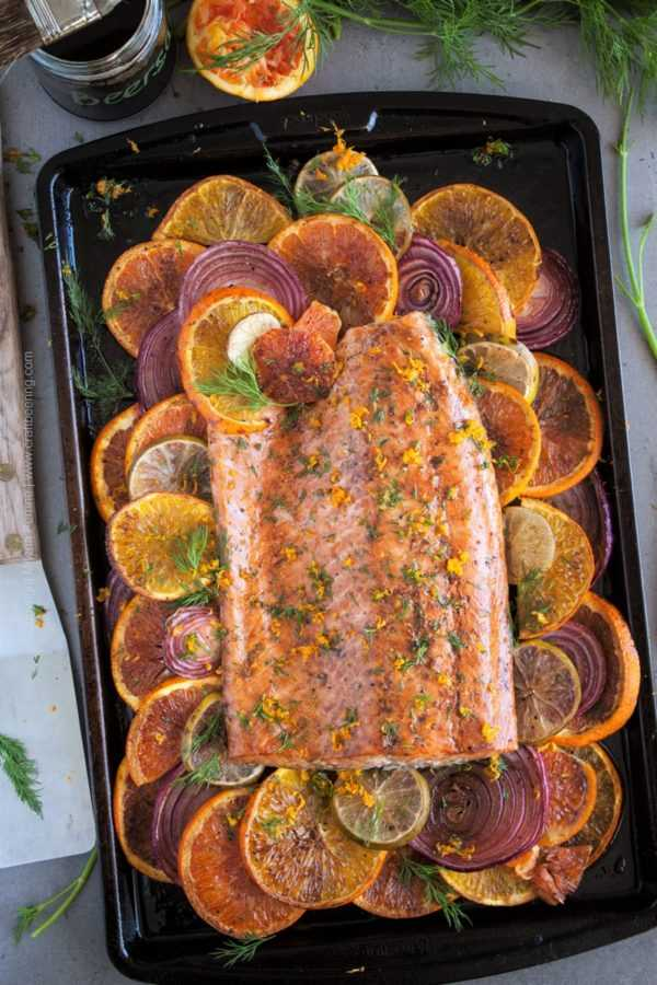 Citrus salmon glazed with beersamic. A short stint in the oven and malty, tangy beersamic glaze will give you this beautiful dish in less than half an hour. #beersamic #citrsusalmon #glazedsalmon #cookingwithbeer