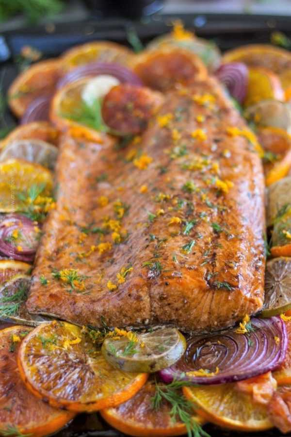 Beersamic glazed citrus salmon