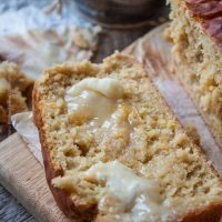 Peach Ale Breakfast Loaf with Honey Butter