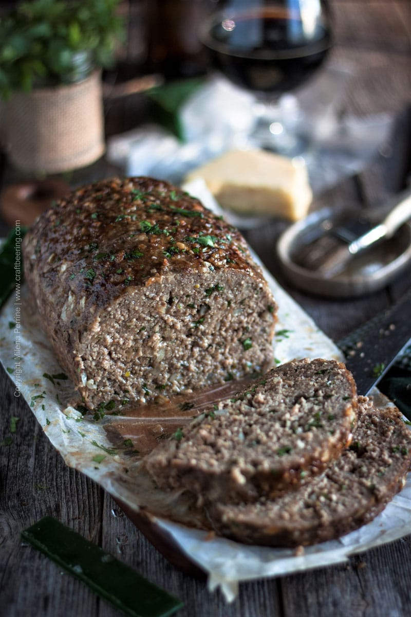 Stout Meatloaf with Irish Cheddar | Moist meatloaf, loaded with Irish cheddar and oatmeal stout #meatloaf #stoutmeatloaf #irish #beermeatloaf #irishcheddar