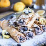 Beer crepes with Hefeweizen, Ricotta, Blueberries and lemon #beercrepes #hefeweizen #cookingwithbeer #craftbeer #crepesrecipe #crepes