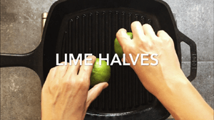 Grill lime halves