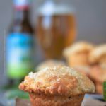 Beer muffins stuffed fresh mozzarella and basil. Smothered in butter. Air, moist and crusty at the same time. #beermuffins #beerbiscuits #beerbatter #cookingwithbeer