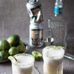 Gose margarita or if you'd rather beergarita is a sprightly beer cocktail with sour gose style ale and tequila. #beercocktail #beermargarita #beergarita #gosemargarita #gose