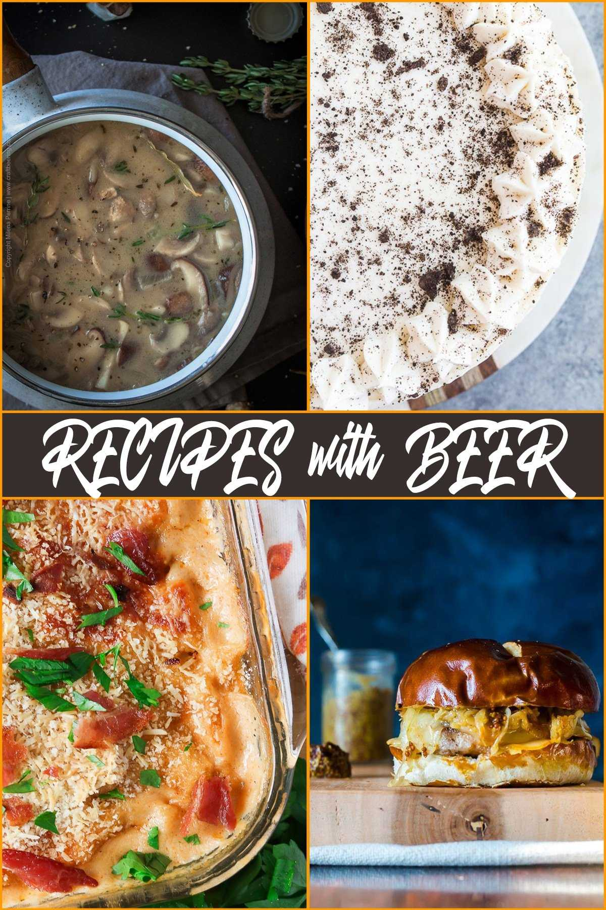 Recipes with Beer Round Up | From soups and appetizers to mains and desserts, cooking with beer is fun and yields delicious results.
