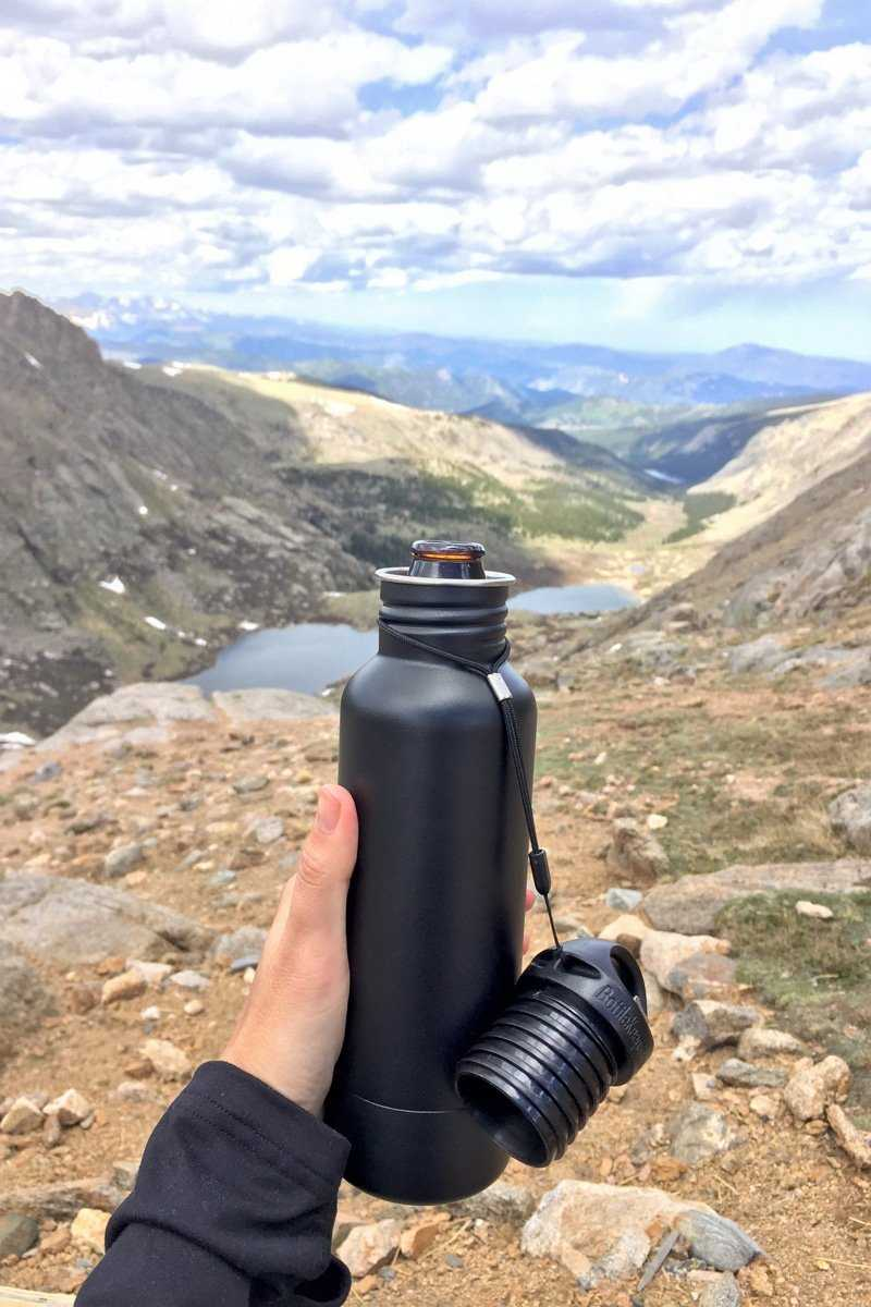 The ultimate beer koozie - BottleKeeper. Neprene inner layer attached to coated stainless steel tube. #koozie #craftbeer #beergift #fathersdaygift #campinggift #hikinggift