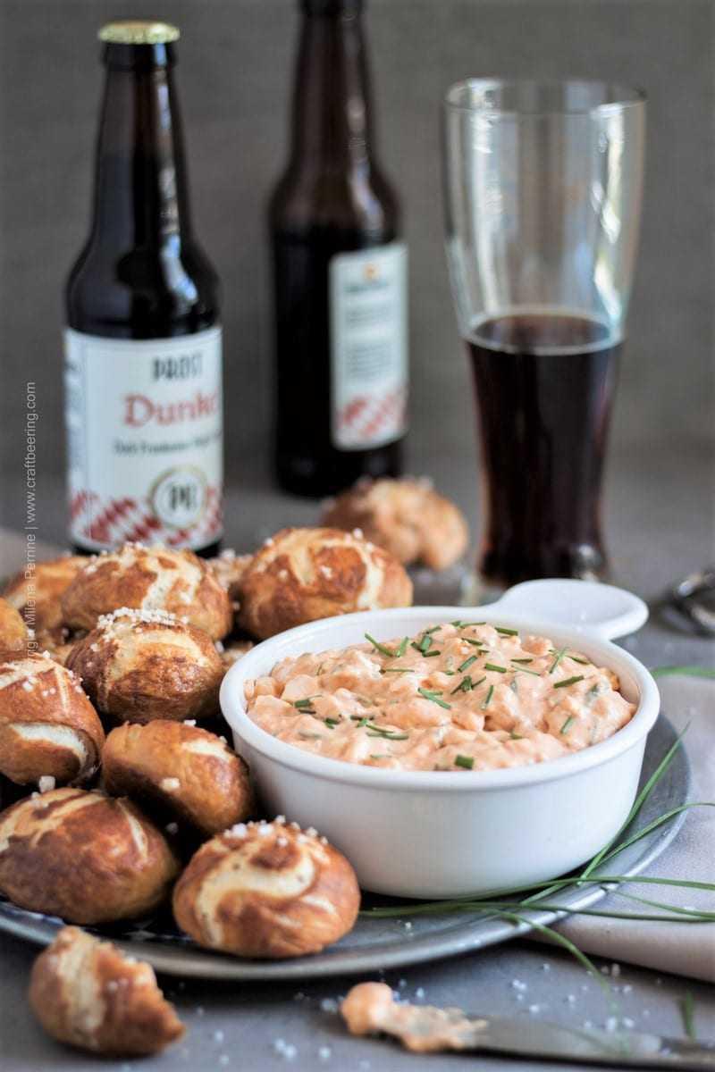 Obatzda dip   Bavarian beer cheese dip is indispensable beer garden menu and an Oktoberfest food favorite.