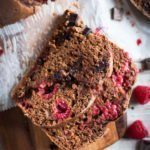 Raspberry bread slices - moist, loaded with flavor and just sweet enough.