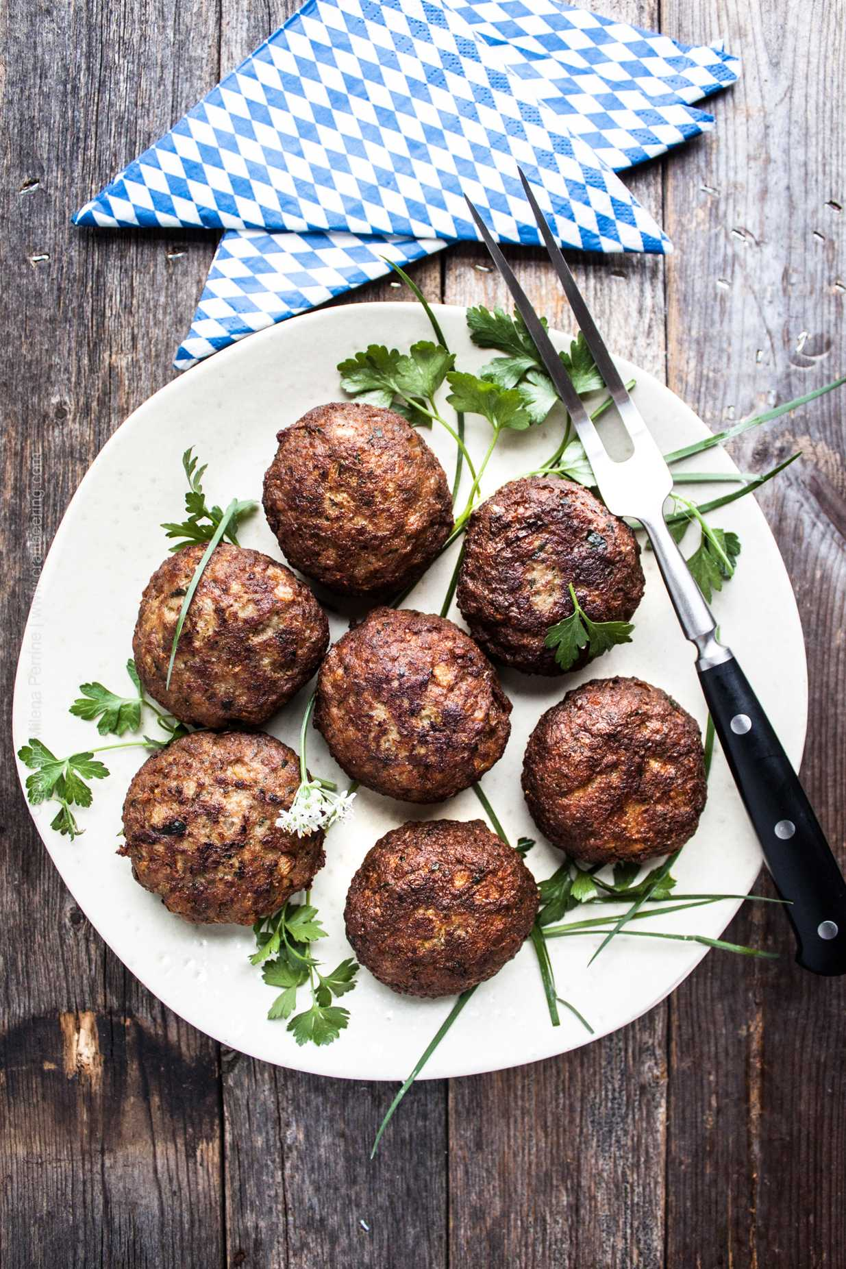 German fried hamburger patties - Frikadellen