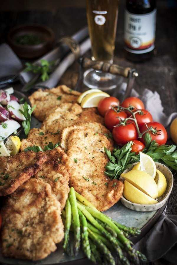 Schnitzel with Pils. Pair schnitzels with crisp, light lagers.