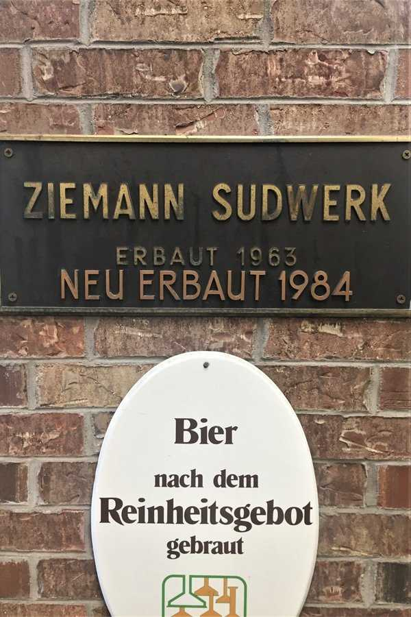 Ziemann Sudwerk plaque - Prost Brewing Co.' copper brewing system was built by the most famous name in turnkey brewing solutions.