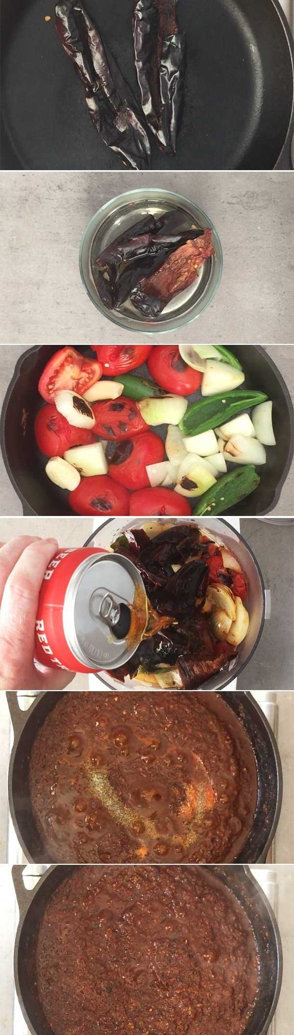 Step by step making salsa borracha with Mexican lager