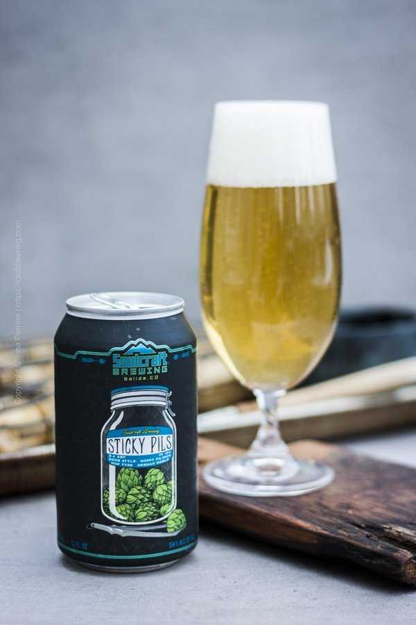 Herbal fresh Noble hops Pilsner pairs great with lamb.
