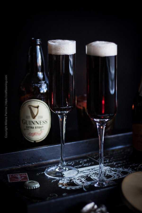 Full Black Velvet flutes ready to drink!