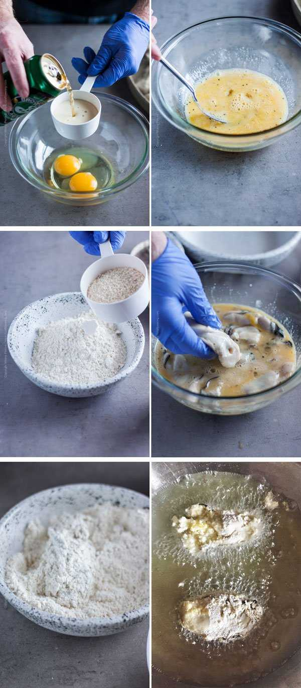 Step by step - how to make pan fried oysters