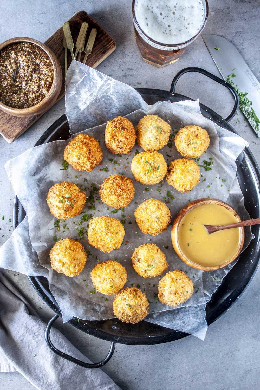 Sauerkraut balls - crispy, bite-sized sauerkraut fritters