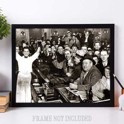 Beer art print - the night Prohibition ended.