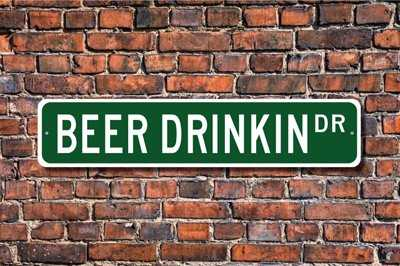 Custom beer street sign.