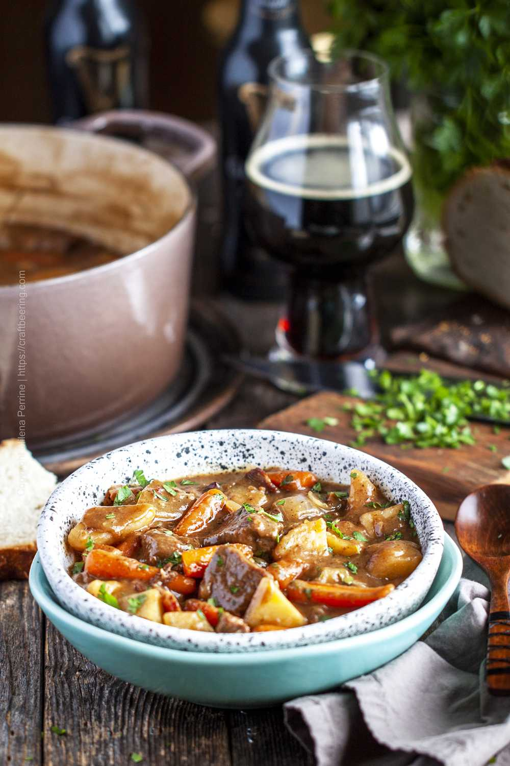 Classic Irish stew with lamb and Guinness.