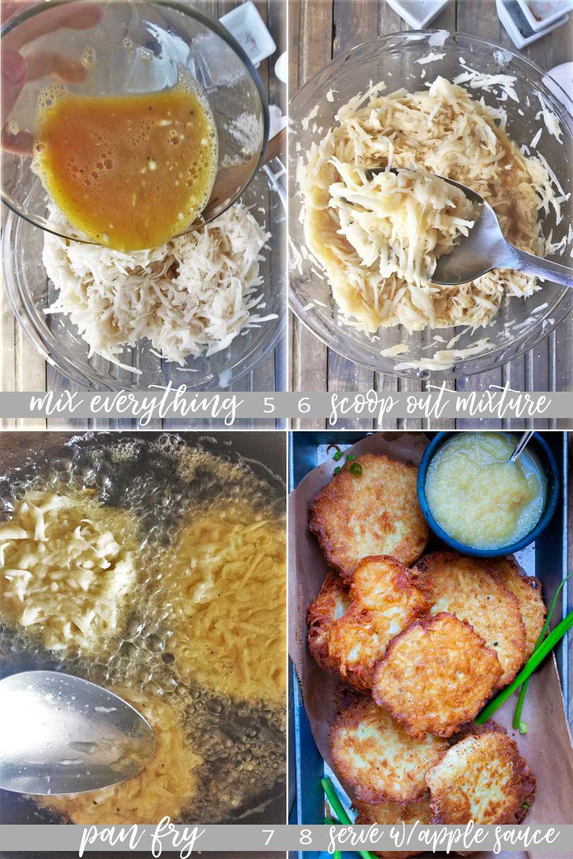 How to make German potatoe pancakes