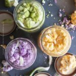 Mason jars full of cauliflower florets and brine