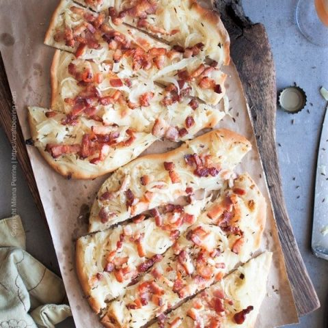 Tarte flambee is also known as Flammkuchen