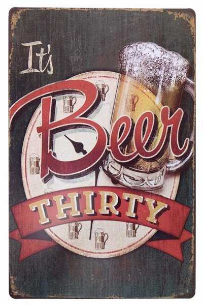 It's beer thirty beer sign for wall decor