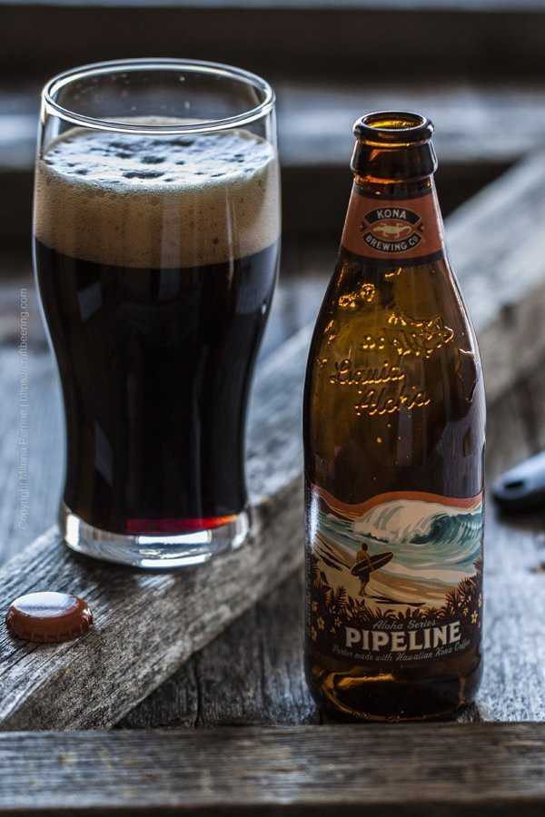Pipeline porter brewed with Kona coffee