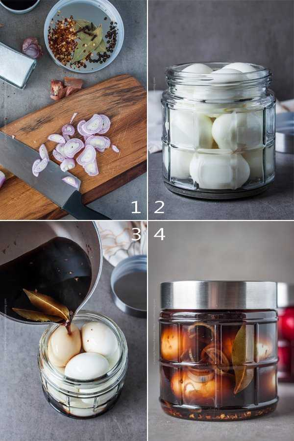 How to make spicy pickled eggs - step by step.