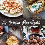 German appetizers collage