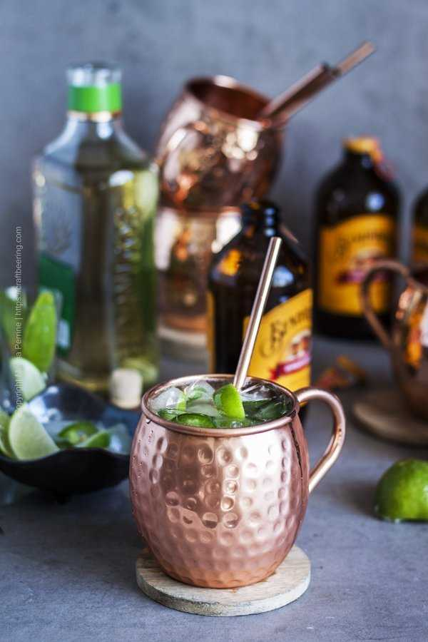 Tequila reposado, ginger beer, limes and a mixed tequila mule.