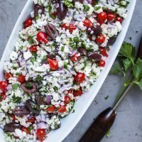 Barley Salad with Olives, Feta Cheese & Sweet Drop Peppers