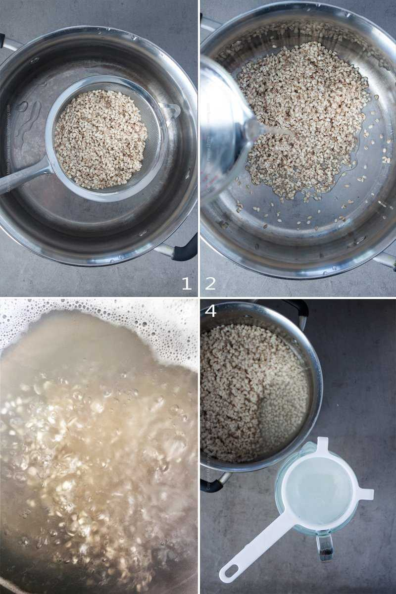How to make barley water.