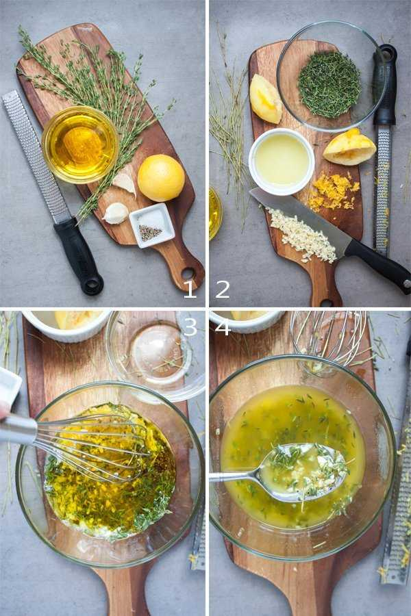 Lemon thyme lamb marinade step by step
