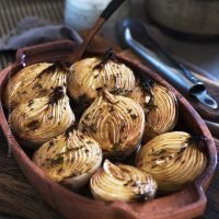 Baked Onions with Balsamic and Sweet Dark Ale
