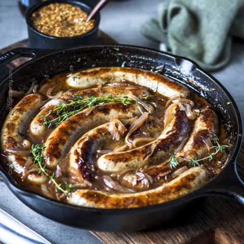 Skillet Beer Brats (Grill or Stove Top)
