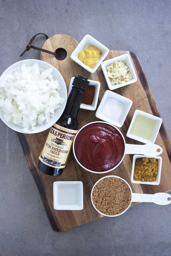 Ingredients for curry ketchup