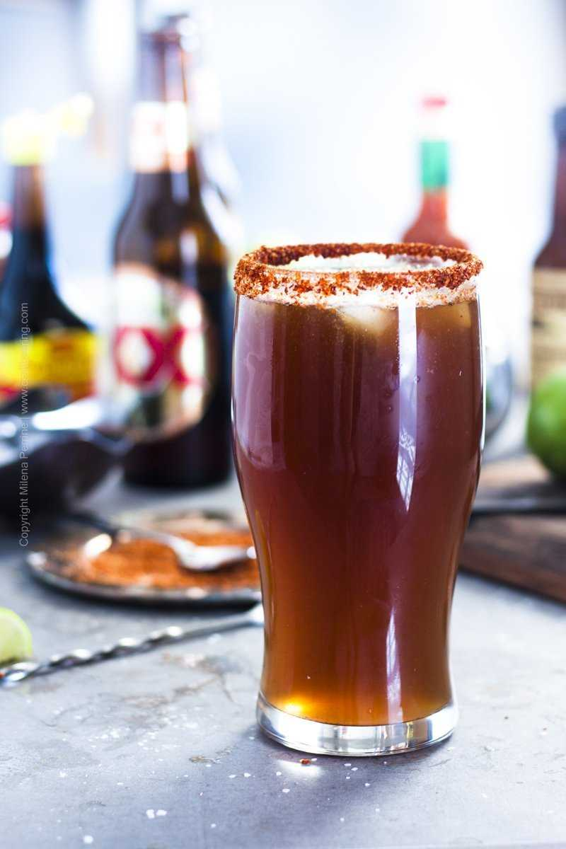 Michelada Mexican beer cocktail. July 12 is designated as National Michelada Day in the US