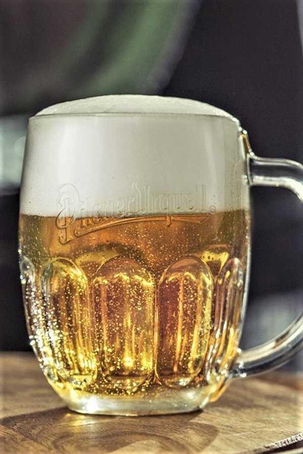 Pilsner Urquell in landmark glassware