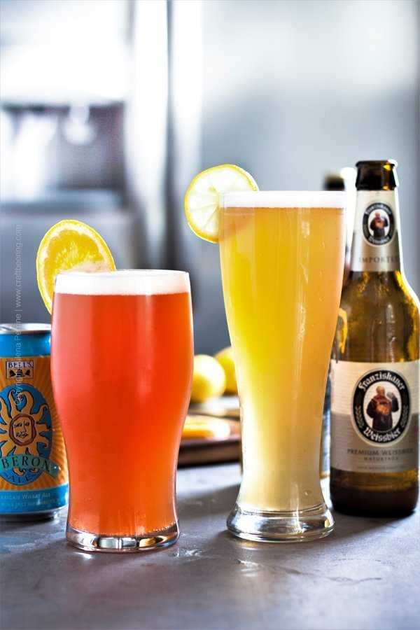 Summer shandy two ways
