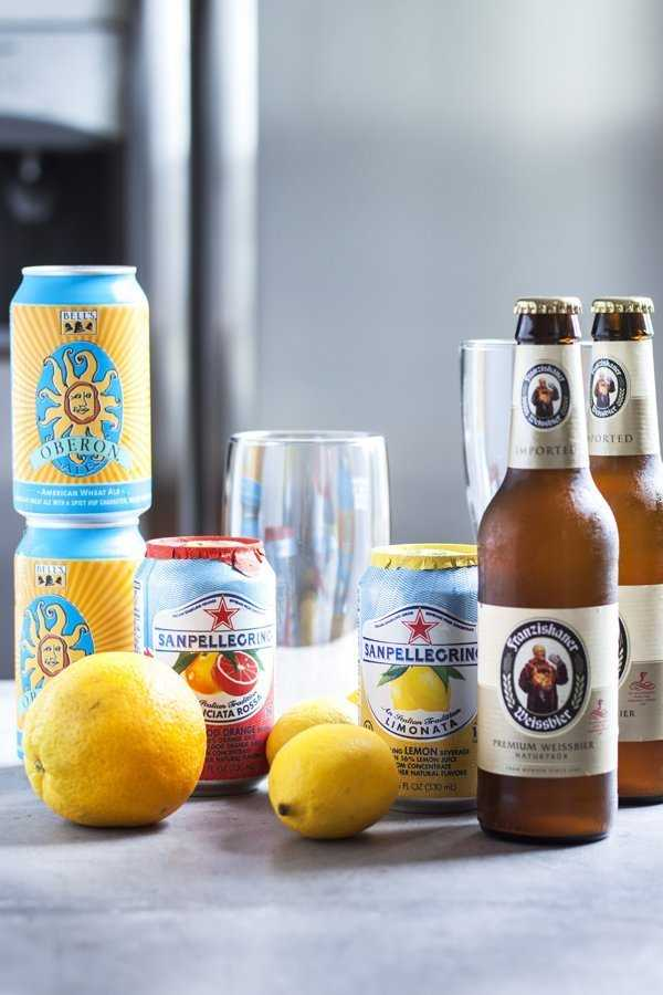 Ingredients for summer shandy