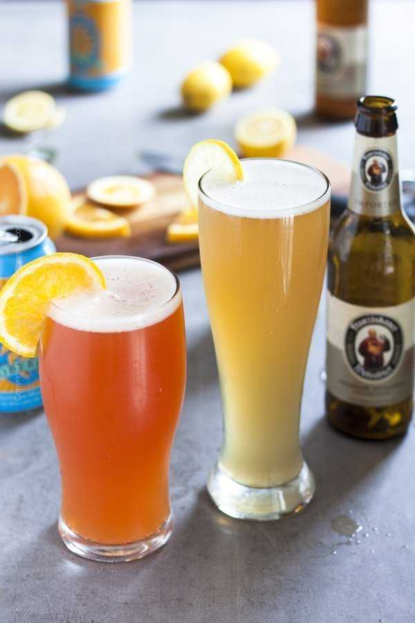 Summer shandy with wheat beer.