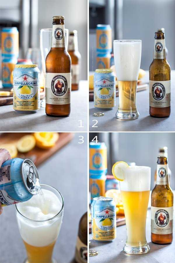 Step by step pictures - mix a summer shandy