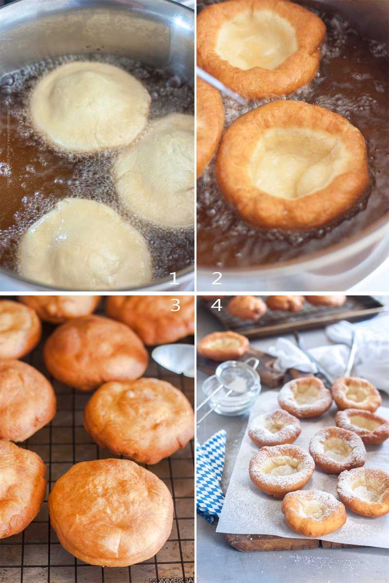How to fry Bavarian donuts