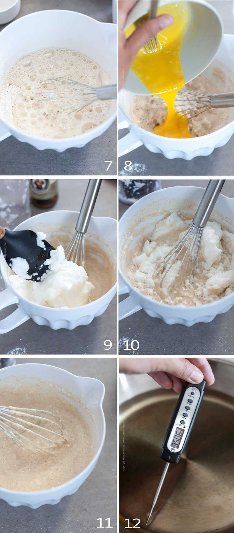 How to make an airy, light batter for apple rings - part 2 image grid