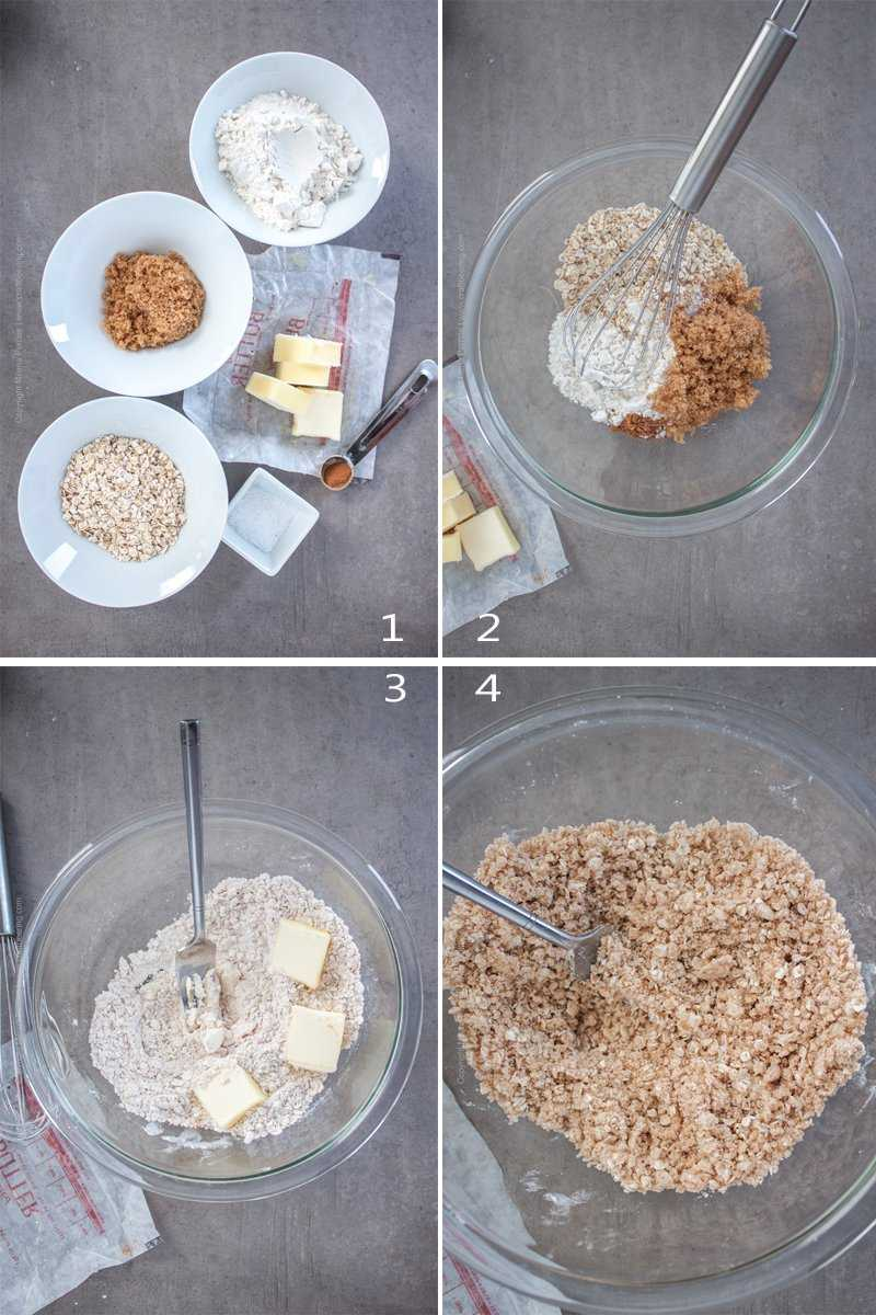 Ingredients for streusel and how to make it