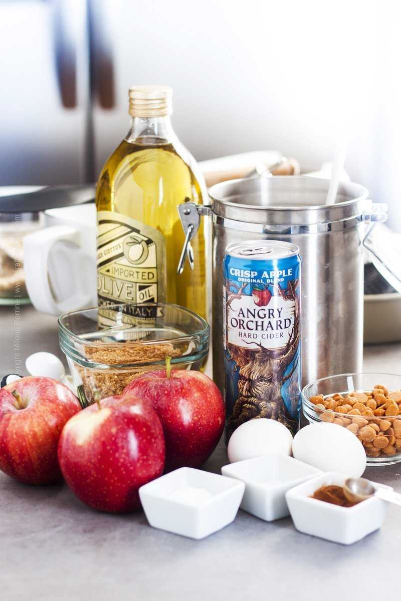 Ingredients for apple bread