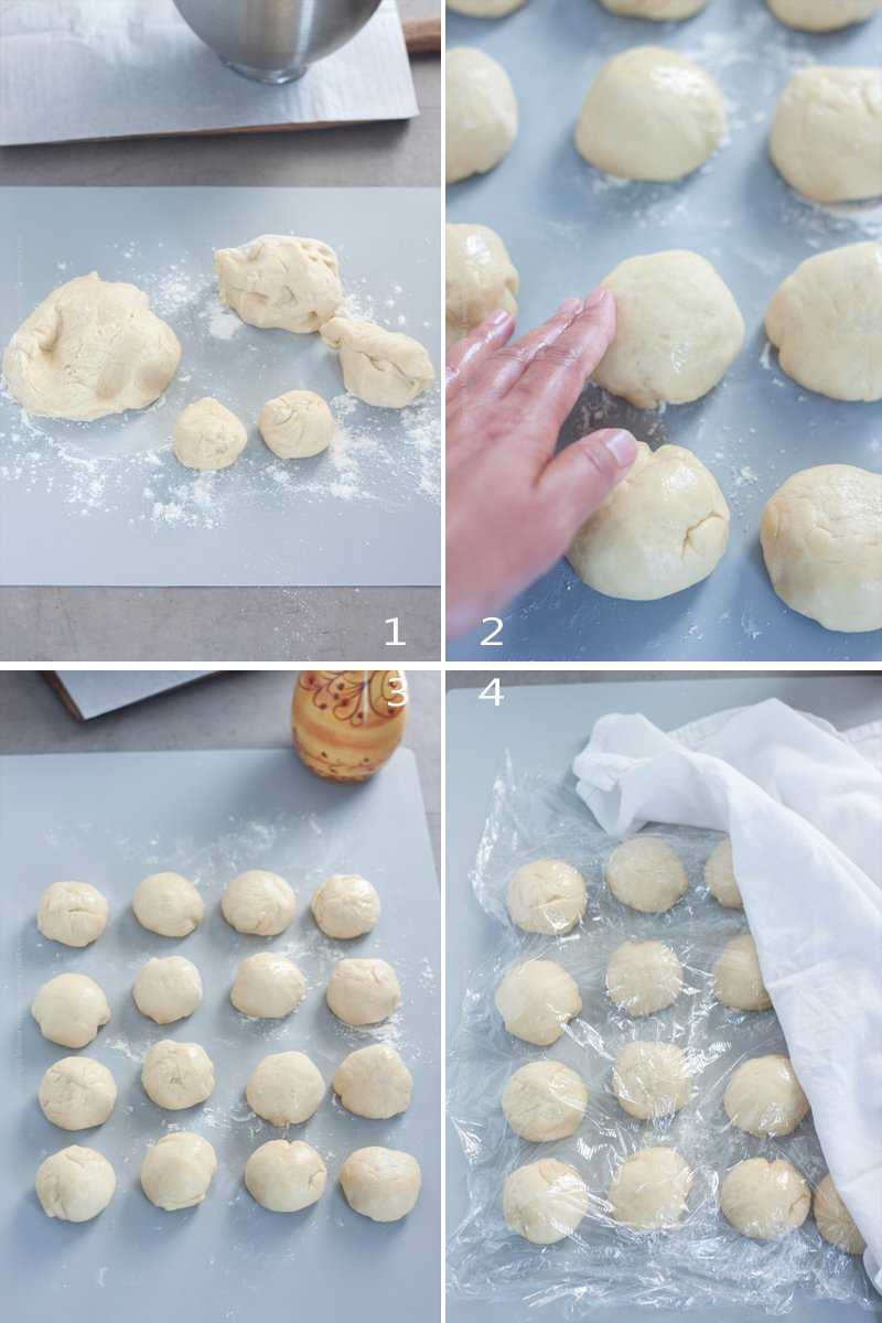 Roll dough into balls