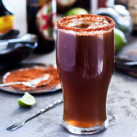 Michelada with Dos Equis