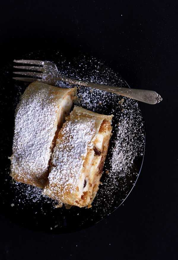 Apple strudel, original recipe.